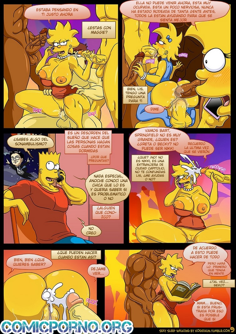 Sexy Sleep Walking Simpsons
